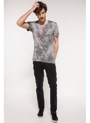DeFacto Baskılı Slim Fit T-shirt Kahve